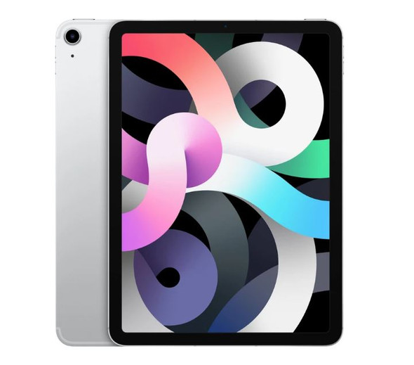 APPLE iPad Air 10.9 inch Wi-Fi+Cellular 64GB-Silver (4th Gen)-10.9' Retina Display,12 MP Wide Camera,A14 Bionic chip with Neural Engine,iPadOS 14