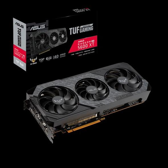 ASUS AMD Radeon TUF 3-RX5600XT-T6G-EVO-GAMING GDDR6 PCIe TOP EDITION 3xDP 1xHDMI 2.7 Slot 1770 Boost 3 Fans