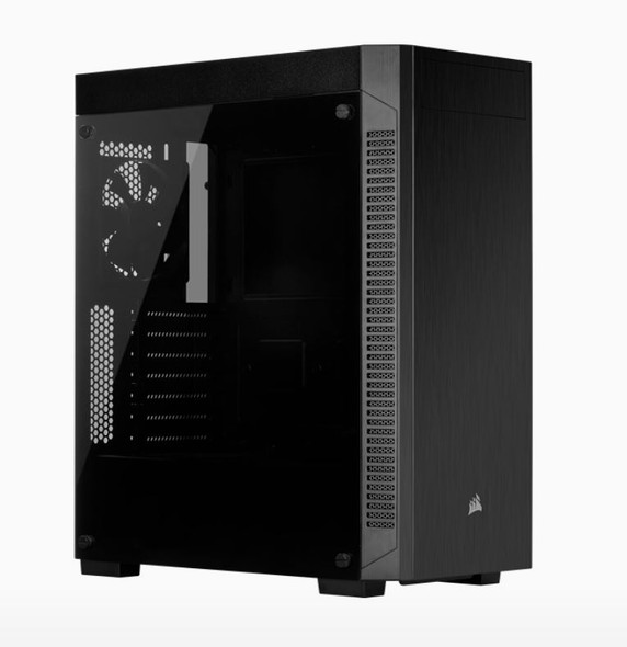 Corsair 110R Tempered Glass ATX, USB 3.1 Type-A, 5x 120mm or 3x 140mm Cooling, 5.25' x 1, 2.5' x 2. Combo 3.5'/2.5' Tray.Mid Tower  Gaming Case