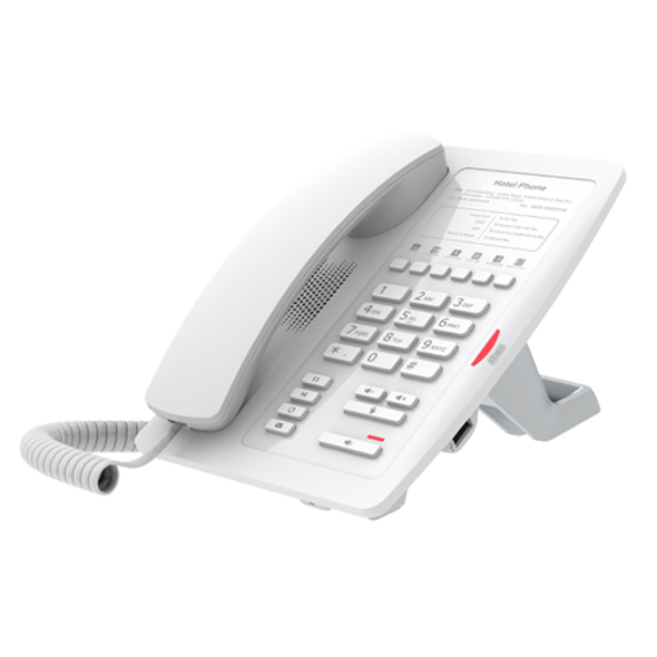 Fanvil H3 Hotel IP Phone - No Display, 1 Line, 6 x Programmable Buttons, Dual 10/100 NIC  - White