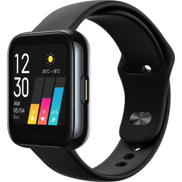 realme Watch Black- 1.4' Large Colour Touchscreen, Blood-oxygen Level Monitor, Real-time Heart Rate Monitor, Smart Control Centre, 160 mAH Battery