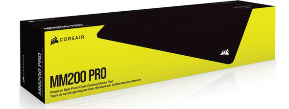 CORSAIR MM200 PRO Premium Spill-Proof Cloth Gaming Mouse Pad – Heavy XL - 450mm x 400mm surface, Black Surface