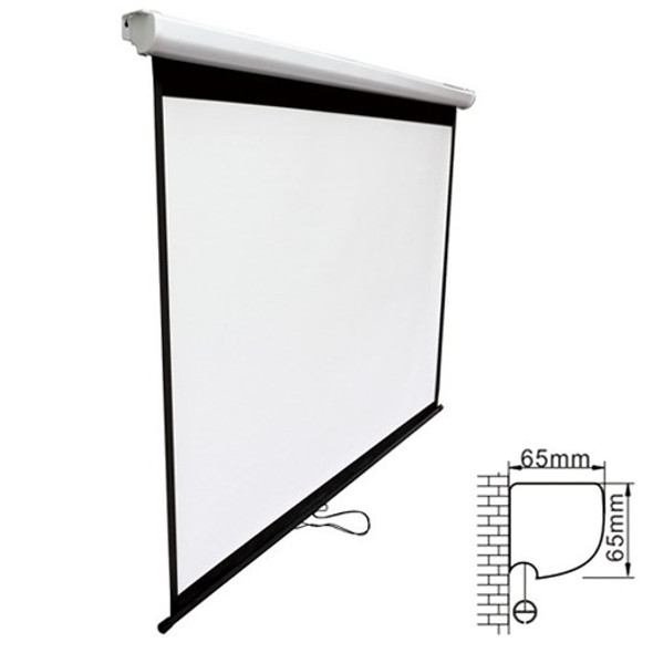 BRATECK Projector Standard Auto-lock Manual Projection Screen-90''(2.0X1.12M) /(16:9 Ratio)