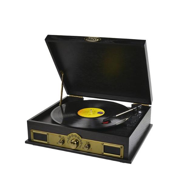 MBEAT Vintage USB Turntable with Bluetooth Speaker and AM/FM Radio