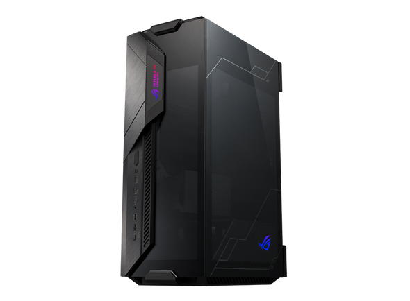 ASUS GR101 ROG Z11 Black Mini-ITX Case, Supports Mini-DTX, Tempered Glass, Aura Sync, Dual Orientation, Removable Dust Filters