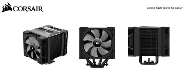 CORSAIR A500 Tower Dual Fan Air CPU Cooler. ML120 PWM Fan x 2. Intel LGA 1200/1150/1151/1155/1156 / 2011/2011-3/2066 AMD AM4/AM3/FM2/FM1 Ryzen 9 (LS)