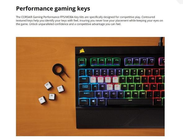CORSAIR Gaming Performance FPS/MOBA Key Kit- White (LS)