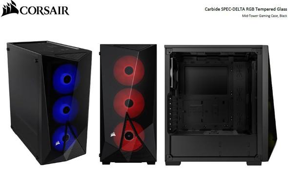 CORSAIR Carbide Series SPEC-DELTA RGB Tempered Glass Mid-Tower ATX Gaming Case, Black. NDA Sept 2020
