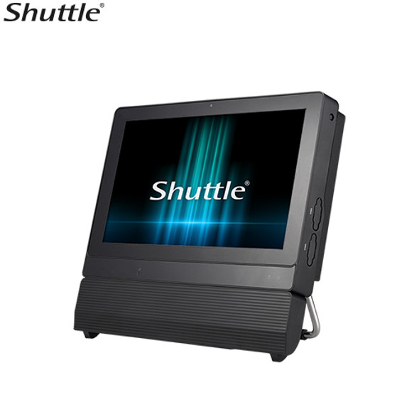 SHUTTLE P20U XPC AIO Fanless Barebone - 11.6' Touch, IP54, Celeron 3865U, DDR4 SODIMM, 2.5' HDD, D-SUB/HDMI, 1 Giga LAN, WiFi