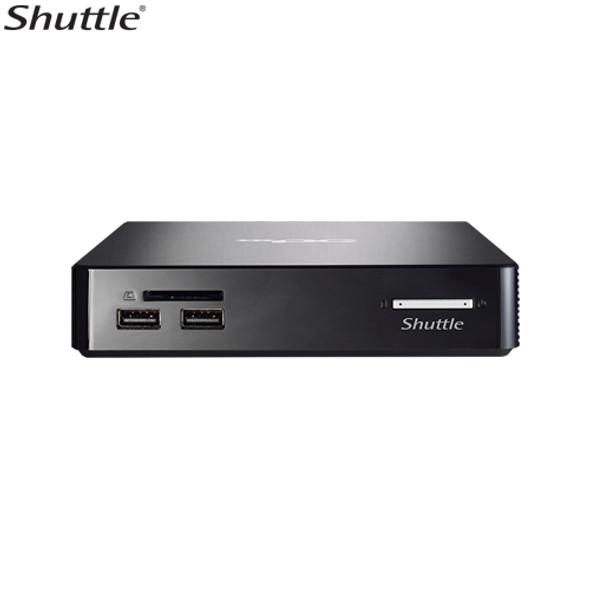 SHUTTLE NS02A XPC Nano 0.57L NUC - RK3368 Octa Core, 2GB RAM, 16GB eMMC, 1x 2.5' Bay, 1x 10/100 LAN, WL-N + BT4.0, VESA, Android 5.1.1