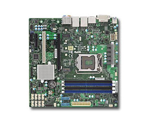 SUPERMICRO X11SAE mATX E3-1200v5/v6, Gen6/7 i7/i5/i3, 4x DDR4 ECC, M.2, SATA RAID, 2x GbE, C236, DVI-D, DP, HDMI