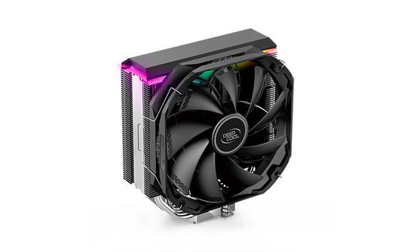 DEEPCOOL AS500 CPU Cooler 5x6mm Heatpipes, Universal RAM Compatibility, TDP 220W, TF140S FDP Fan, ARGB LED Top Cover, Intel LGA2066/2011 AMD AM4 AM3
