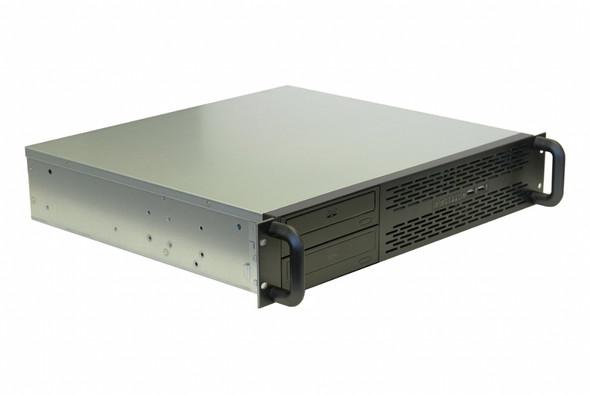 TGC Rack Mountable Server Chassis 2U 400mm Depth, 2x Ext 5.2' Bays, 2x Int 3.5' Bays, 4x Low Profile PCIE Slots, MATX MB, ATX PSU