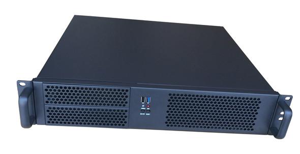 TGC Rack Mountable Server Chassis 2U 390mm Depth, 2x Ext 5.25' Bay, 4x Int 3.5' Bays, 4x Low Profile PCIE Slots, MATX MB, ATX PSU