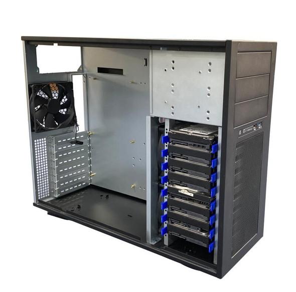 TGC Tower Server Chassis 4U 555mm Depth, 3x Ext 5.25' Bays, 8x Int 3.5' Bays, 8x Full Height PCIE Slots, ATX PSU/MB