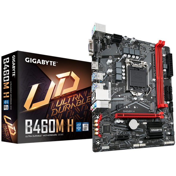 GIGABYTE B460 H Motherboard with GIGABYTE 8118 Gaming LAN, PCIe Gen3 x4 M.2, Anti-Sulfur Resistor, Smart Fan 5