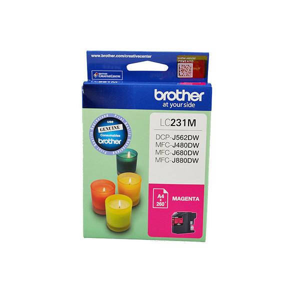 BROTHER LC231 Magenta Ink Cartridge