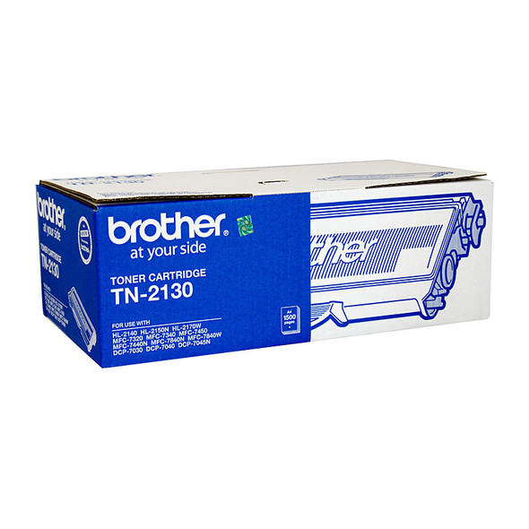 Brother TN-2130 Mono Laser Toner- Standard, HL-2140/2142/2150N/2170W, DCP-7040, MFC-7340/7440N/7840W- Up to 1500 pages