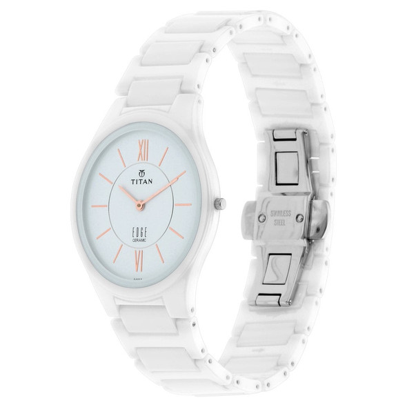 Titan Edge Men's Watch Ceramic in Arctic White 1696QC04