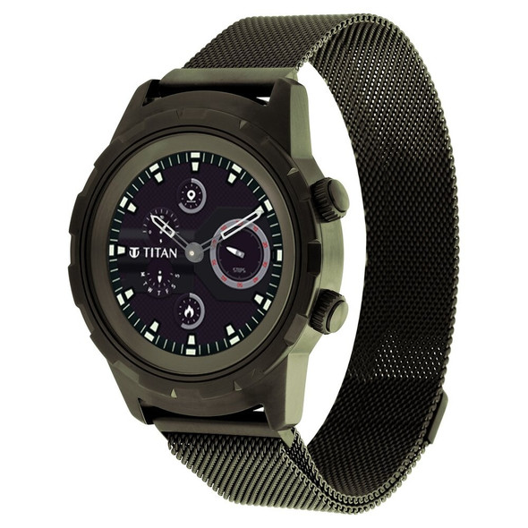 Titan Connected X Unisex Watch Khaki Green Hybrid Smart 90116QM01