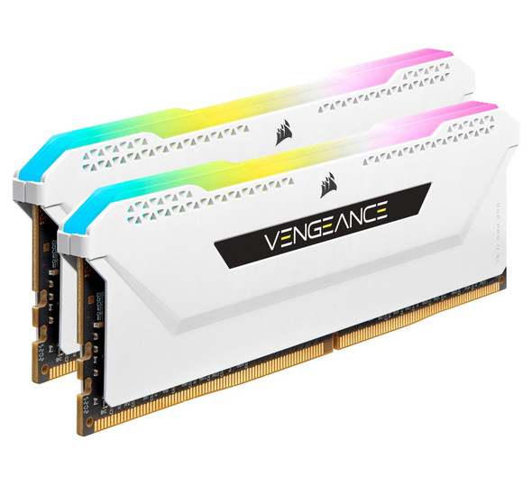 CORSAIR Vengeance RGB PRO SL 32GB (2x16GB) DDR4 3600Mhz C18 White Heatspreader Desktop Gaming Memory