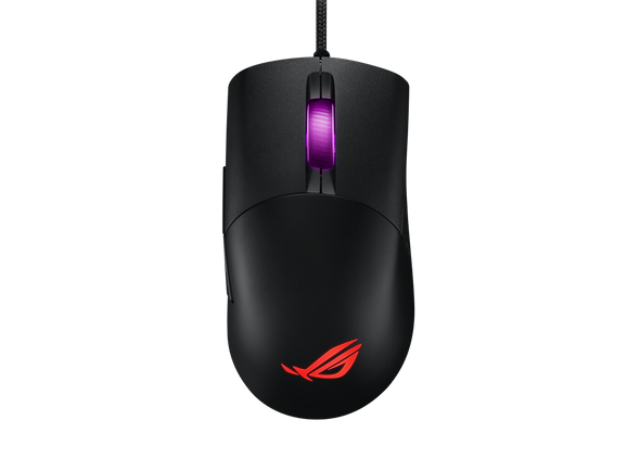 ASUS P509 ROG KERIS FPS Gaming Mouse, Lightweight, Black, 16,000 DPI, PBT Polymer L/R, Piush Fit Socket, Omni Mouse Feet, Paracord, Aura Sync RGB