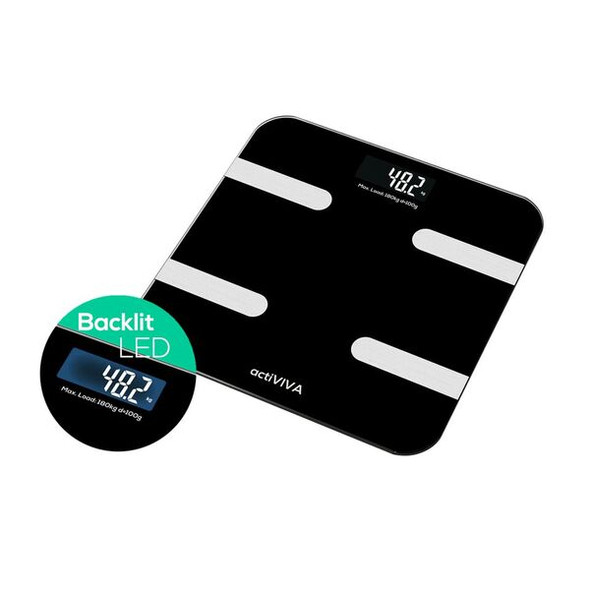 MBEAT 'actiVIVA' Bluetooth BMI and Body Fat Smart Scale with Smartphone APP