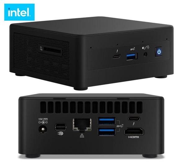 INTEL Intel NUC 11 Pro Kit Mini PC Barebone, Core i3-1115G4, SODIMM DDR4 (0/2), M.2 (0/1), 2.5 (0/1), UHD Graphics, GbE, WiFi 6, HDMI 2.0b (2), Thunderb
