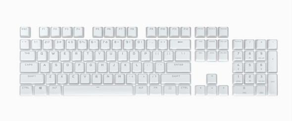 CORSAIR PBT Double-shot Pro Keycaps - Arctic White - Keyboard