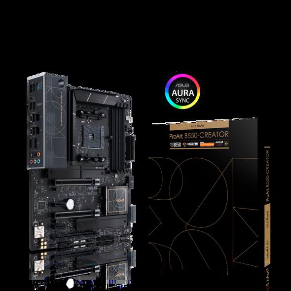 ASUS AMD B550 Ryzen AM4 ATX MB, PCIe 4.0, Dual Thunderbolt 4, Type-C Ports, Dual Intel 2.5Gb Ethernet, Dual M.2 With Heatsinks, USB 3.2 Gen 2