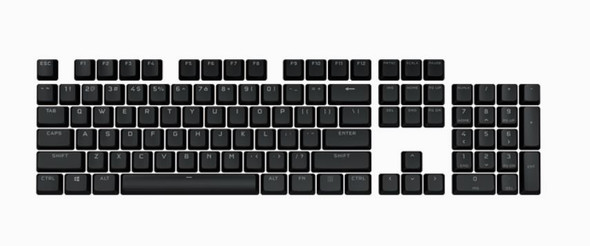 CORSAIR PBT Double-shot Pro Keycaps - Onyx Black Keyboard