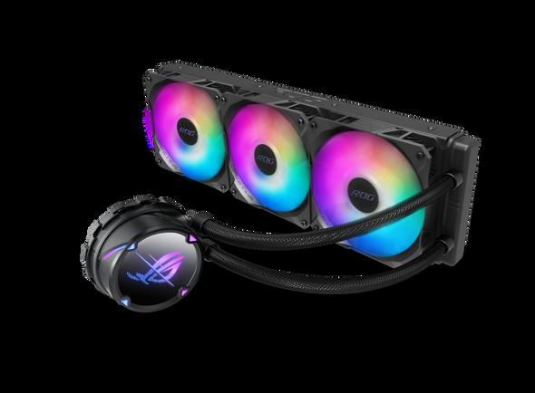 ASUS ROG STRIX LC II 360 ARGB All-in-one Liquid CPU Cooler Aura Sync, Intel®LGA 1150/1151/1155/1156/1200/2066 and AMD AM4/TR4 TripleROG 140mm Fan RGB