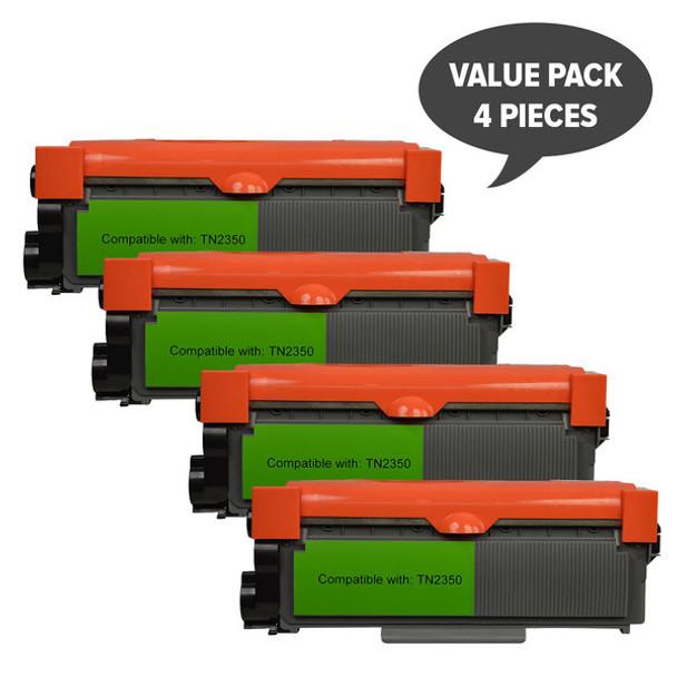 TN-2350 Premium Generic Toner Cartridge x 4
