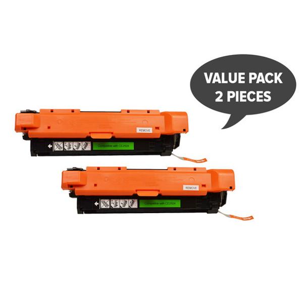 HP Compatible 2 x CE250X #504X Black Premium Generic Toner