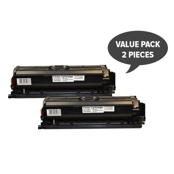HP Compatible 2 x CE260X #649X Premium Generic Black Toner