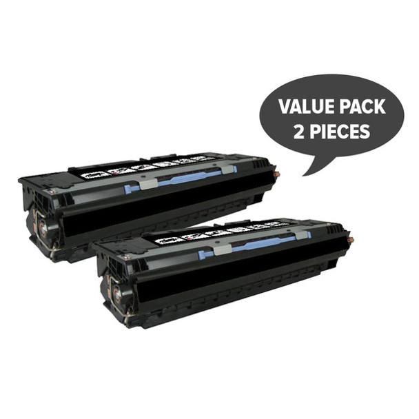 HP Compatible 2 x Q2670A #308A Black Premium Generic Toner