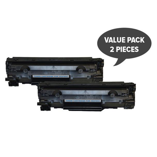 HP Compatible 2 x CE278 HP #78A Cart326 Black Generic Toner