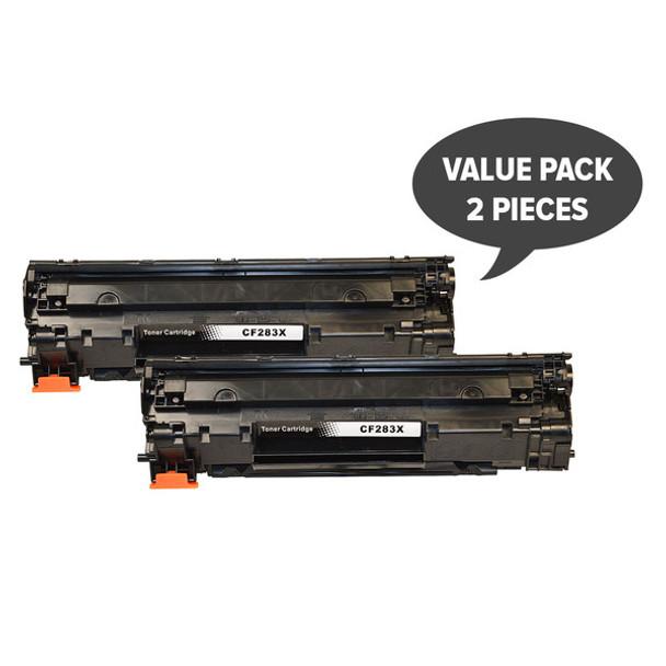 HP Compatible 2 x CF283X Premium Generic Toner
