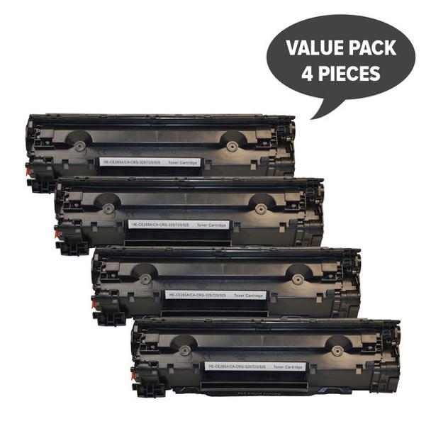 HP Compatible CE285A #85A Cart325 Black Generic Toner x 4