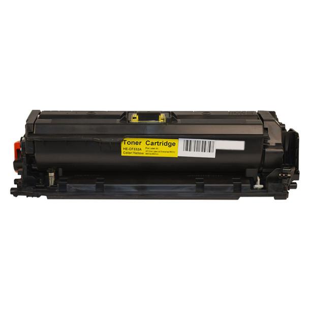 HP Compatible CF332A #654A Yellow Premium Generic Toner