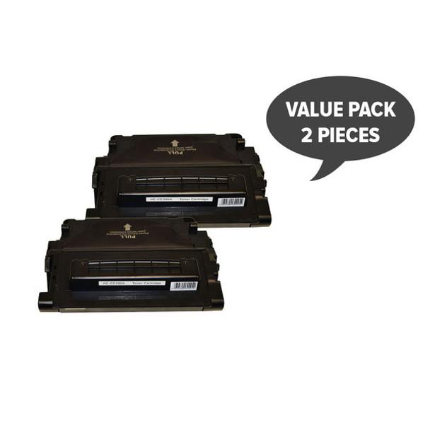 HP Compatible 2 x CE390A #90A Premium Generic Cartridge