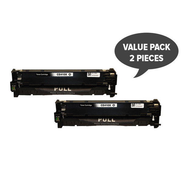HP Compatible 2 x CE410X #305X Premium Generic Black Toner