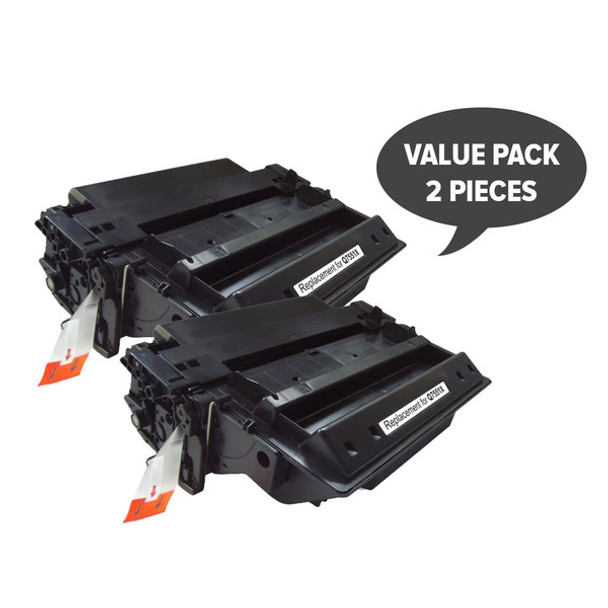 HP Compatible 2 x Q7551X HP #51X Black Premium Generic Laser Toner