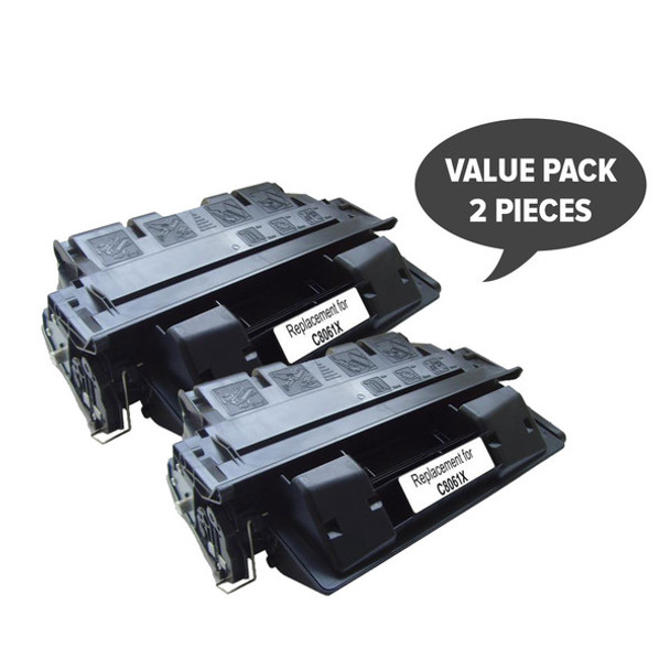 HP Compatible 2 x C8061X HP #61X Black Premium Generic Toner