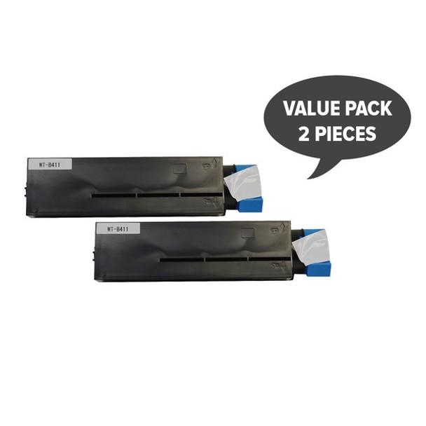 2 x 44574703 B411 Premium Generic Black Toner