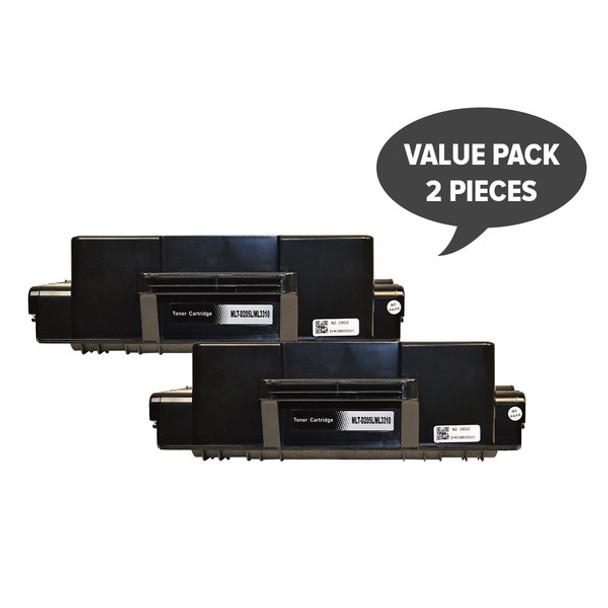 2 x MLT-D205L Black Premium Generic Toner