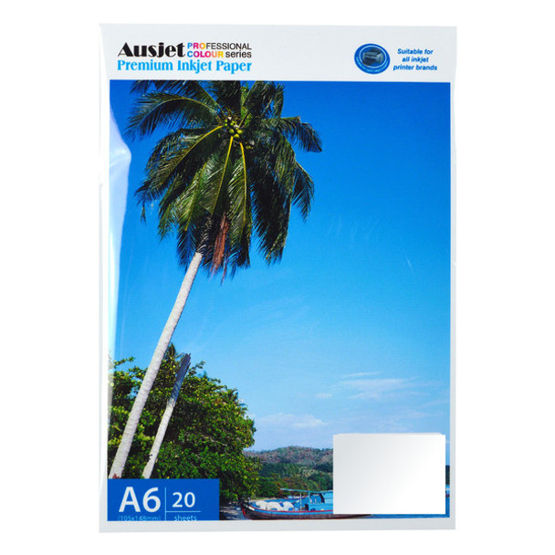 AUSTiC 115gsm A6 Sticker Glossy Photo Paper (20 Sheets)