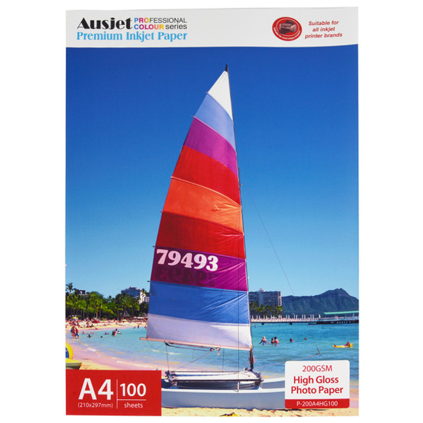 200gsm A4 High Gloss Photo Paper (100 Sheets)
