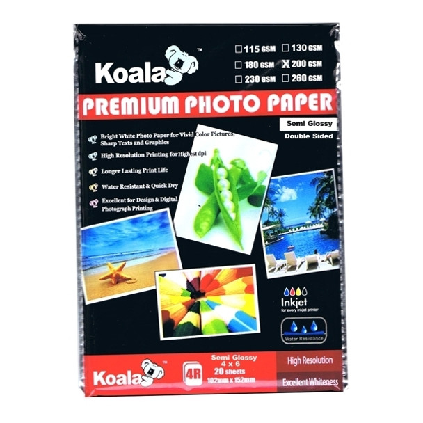 200gsm (4x6) DS Semi Gloss Paper (20 Sheets)