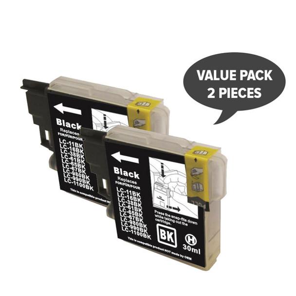 2 x LC38 LC67 Black Compatible Inkjet Cartridge